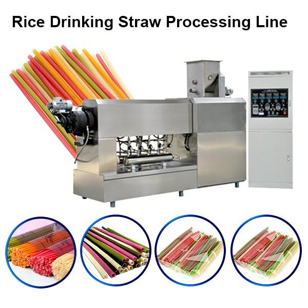 New Material Edible Straws Biodegradable Rice Tapioca Straw Maker